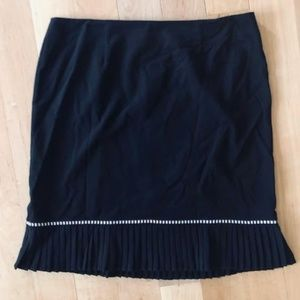 Plus Size Pencil Skirt w/Pleated Hemline